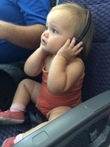 Abbie with headphones