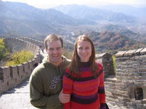 My first trip to the Great Wall of China.